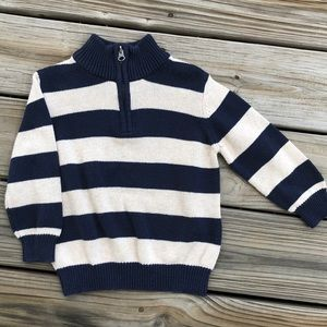 Blue and White Striped Pullover